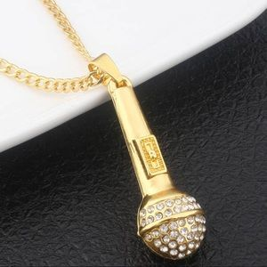 Mic 🎤 Crystal Necklace New